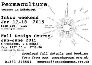 Permaculture courses poster 2015